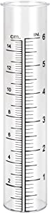 Litake Plastic Rain Gauge Replacement Tube for Yard Garden Outdoor, 6-inch Capacity 7.2in x 1.4in and Weather-Resistant
