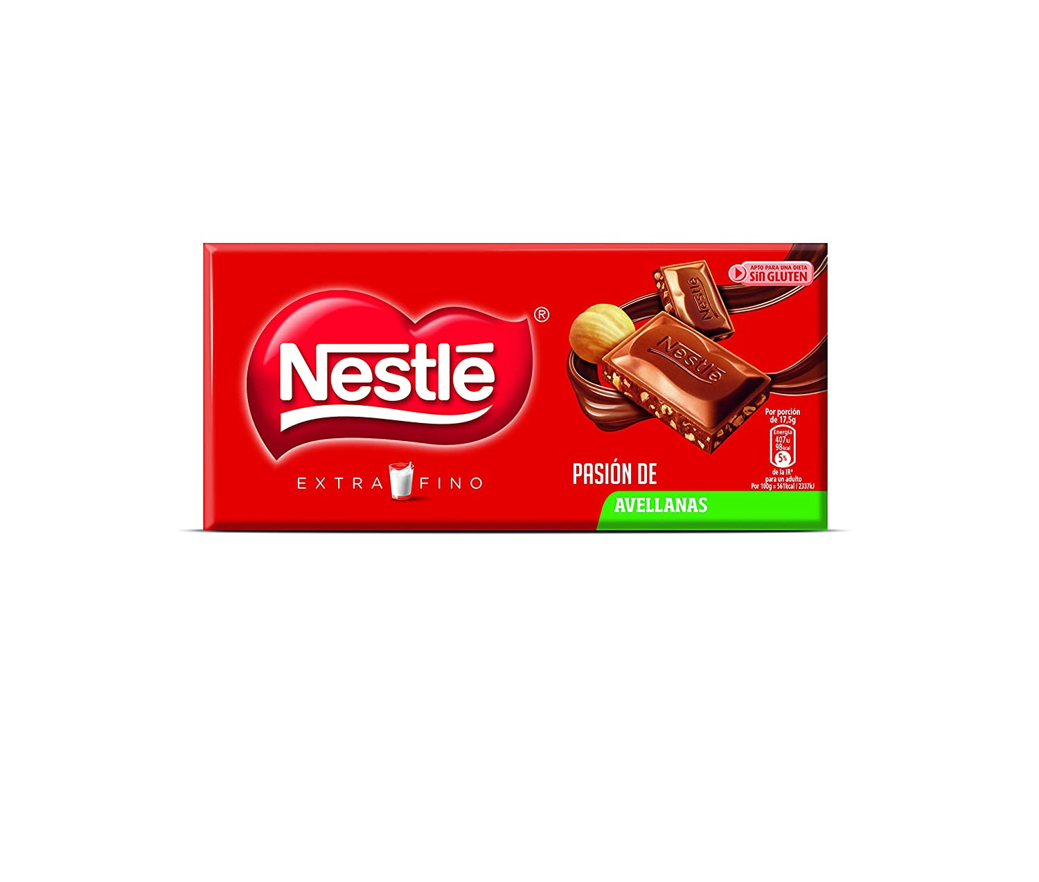 NESTLÉ EXTRAFINO Chocolate con Leche Avellanas - Tableta de Chocolate 123g: Amazon.es: Amazon Pantry