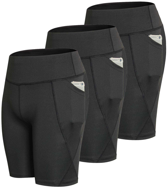 laventoレディース圧縮ショーツポケットワークアウトランニングヨガショーツ Black Large B07DWKMS3V 3 Pack-2801 Black Large 3 Large Large 3 Pack-2801 Black, jeans deco/ジーンズ デコ:41426efa --- harrow-unison.org.uk