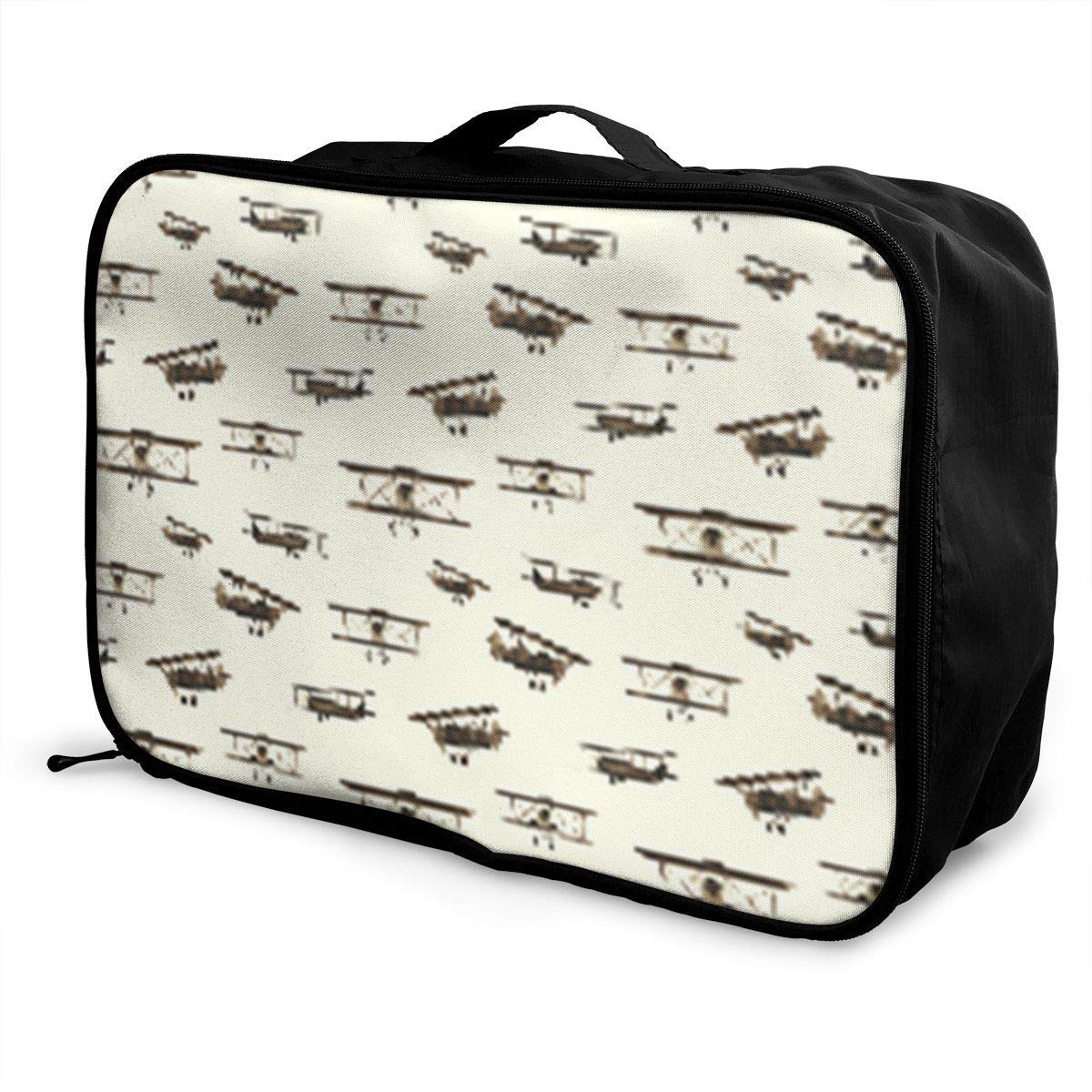Portable Luggage Duffel Bag Retro Airplanes Travel Bags Carry-on In Trolley Handle