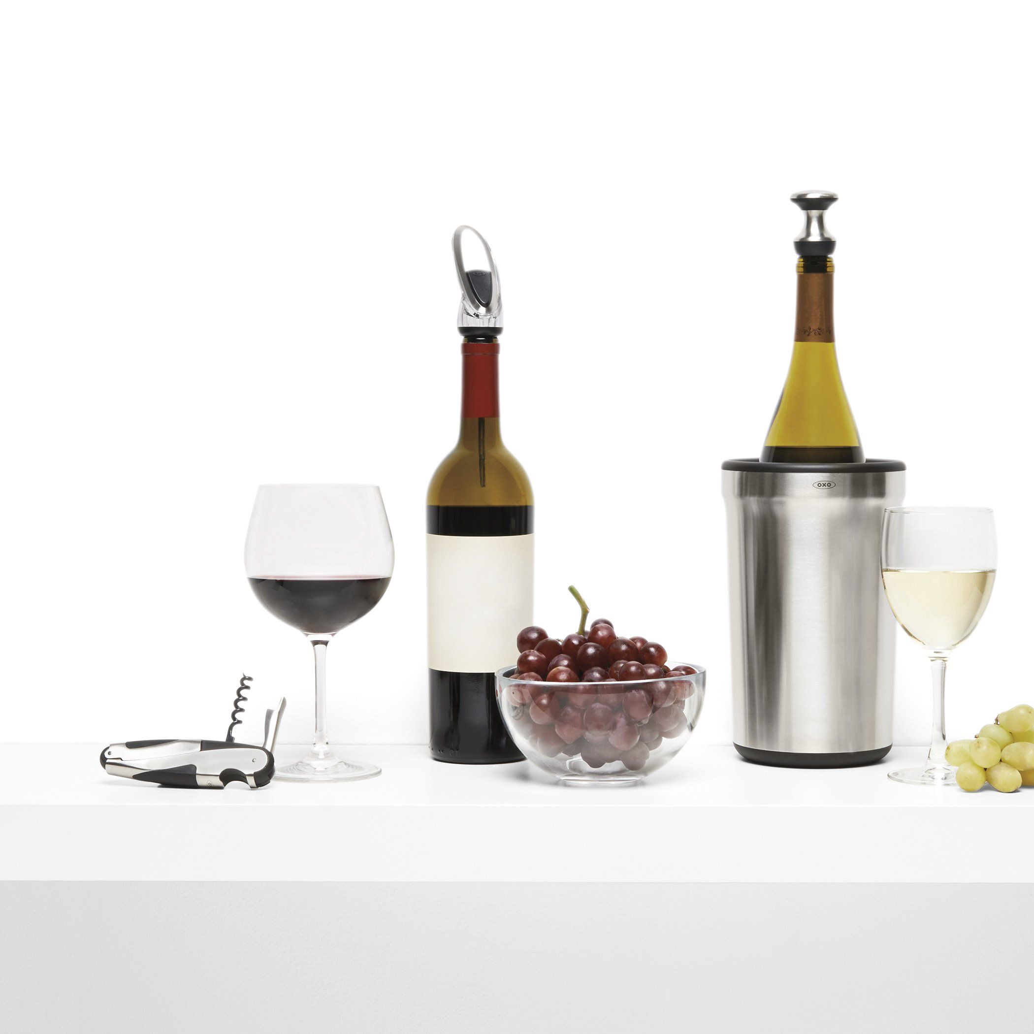 OXO 11136400 Wine Stopper and Pourer, Stainless Steel by OXO (Image #5)