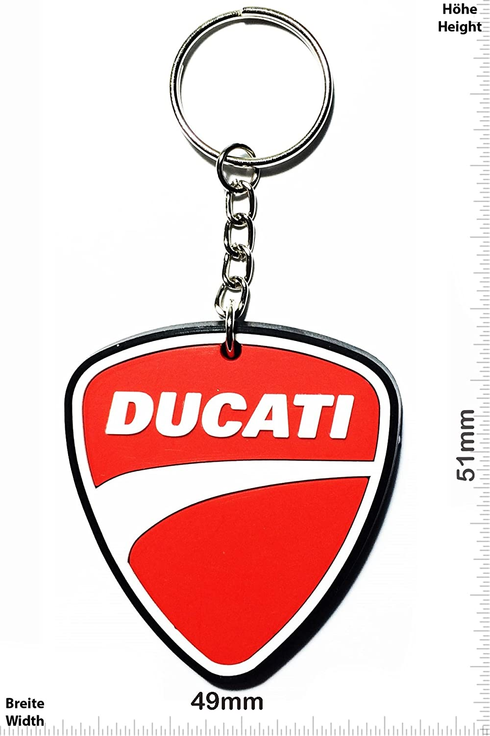 Llaveros - Keychains - Ducati - logo - black - Motocross - Motorcycle - Motorbike - Car - Key Ring - Kautschuk Rrubber Keyring - perfect also bags, ...