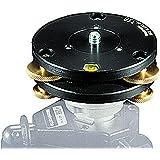 Manfrotto 338 - Base niveladora para rótulas, negro