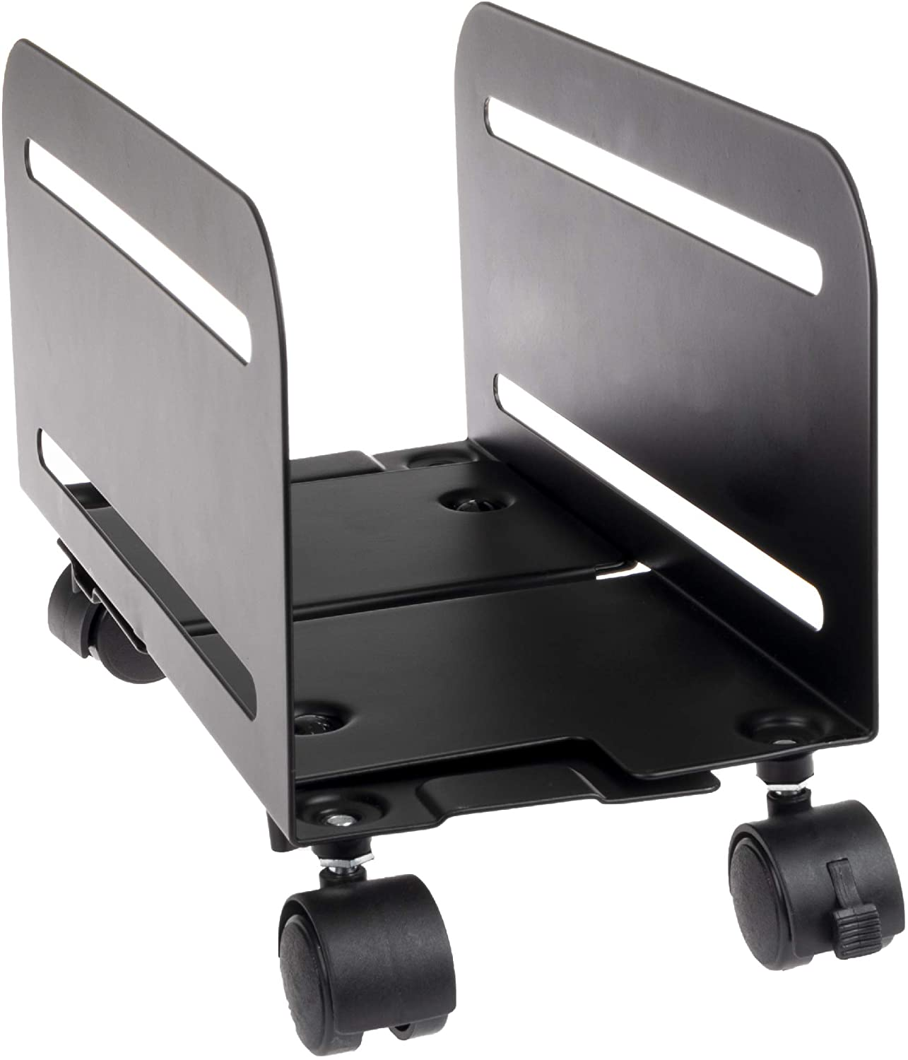 PC Computer Tower Stand with Wheels - Mobile CPU Holder Cart for Desktop : Office Products