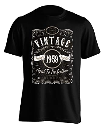 9d10f1b83 Vintage 1959 Aged to Perfection - 60th Birthday Gift/Present - Mens T Shirt:  Amazon.co.uk: Clothing