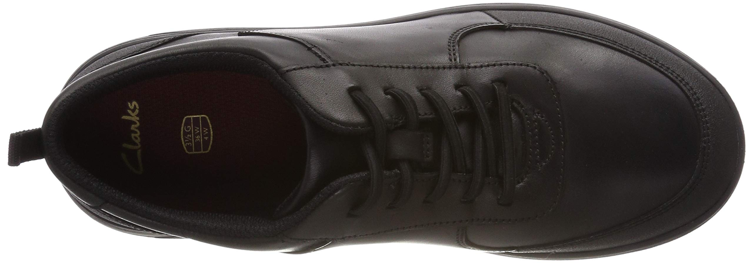 CLARKS Boys' Scape Street Y Brogues, (Black Leather-), 3 UK by CLARKS (Image #7)