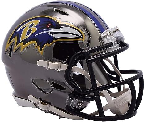 88ce0cee Amazon.com : Sports Memorabilia Riddell Baltimore Ravens Chrome ...