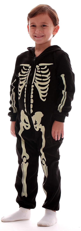#followme Glow in The Dark Boy's Skeleton Jumpsuit Pajamas Family Sleepwear