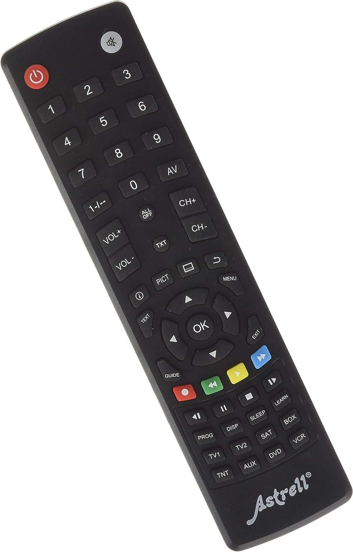 Astrell 11999 - Mando a distancia 8 en 1 (TV, TDT, SAT, DVD, VCD, Home Cinema, AUX), negro: Amazon.es: Electrónica