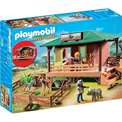 Playmobil Ranger Station with Animal Area: Toys & Games