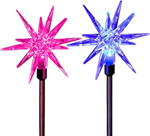 Star Lamp Solar Garden Stake Lights Outdoor Waterproof Color Changing Christmas Garden Patio Decorative Night Light Yard Art Crystal Figurines Fairy Lights Deck Accessories And Decor Outdoor Landscape