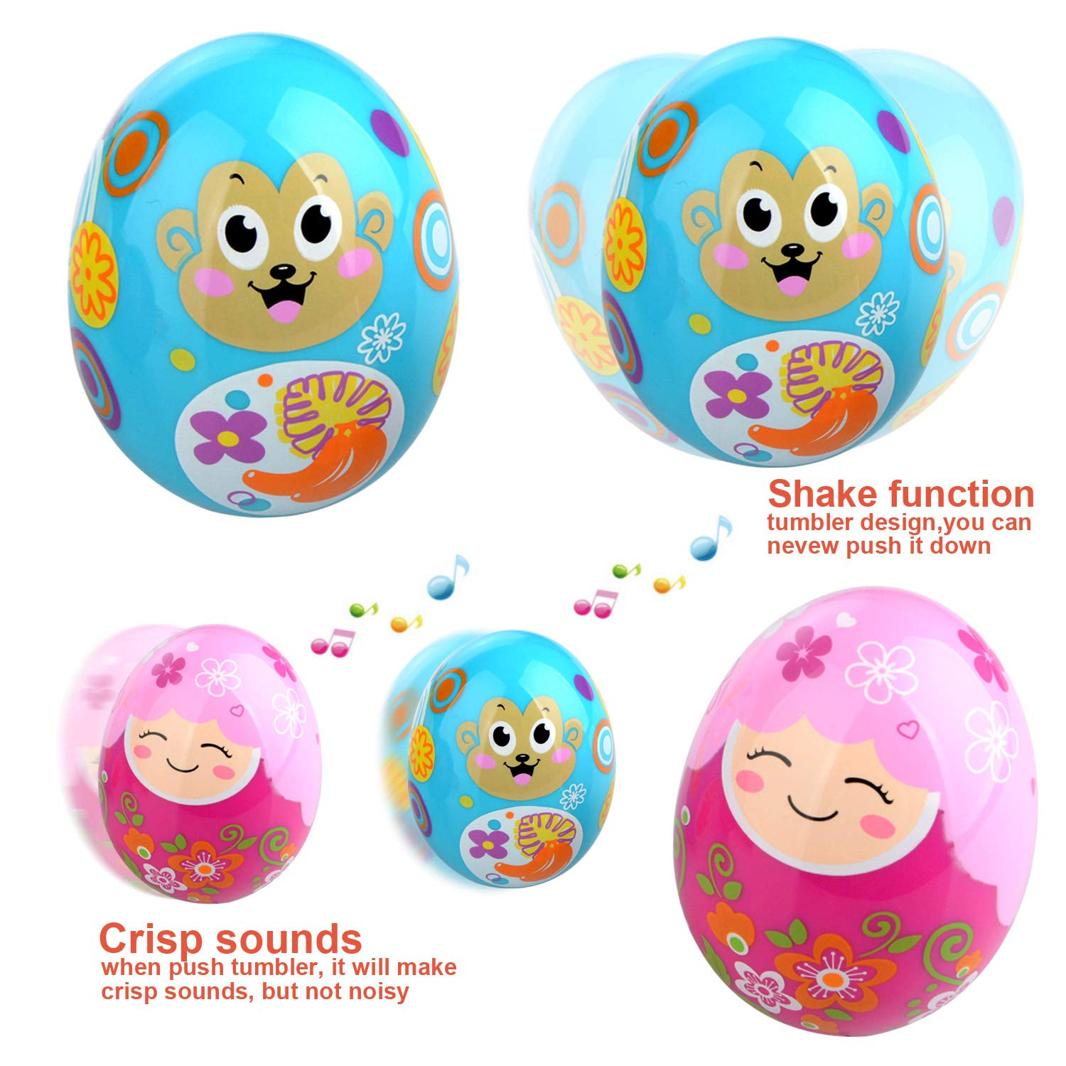 Kids Musical Instruments, Early Learning Musical Toys for Kids, Toddlers, Preschool Education Musical Toys Set Including Bell Drum Rattle Maracas Castanets Egg Shaker RTWAY
