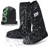 [ANZOBEN] シューズカバー 防水 靴カバー 雪 雨 水 泥避け 梅雨対策 レインカバー 防水 滑り止め 耐摩耗 収納袋付き 携帯可 通勤 通学 自転車用 S M L XL XXL 男女兼用 靴の保護 履きやすい ロング