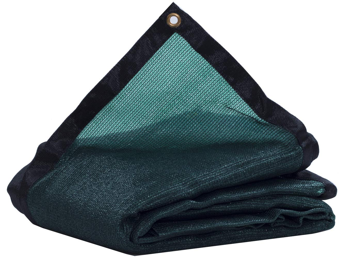 JTsuncover- 90% Heavy Duty Shade Cloth Mesh Sun Block Fabric - with Grommets - Green 20 ft x 30 ft