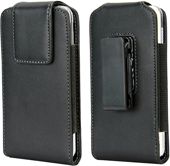 NOT Plus Fits Phone with Case on - Built in ID Card Holder Meilib Samsung Galaxy S10 S9 S8 Holster Cell Phone Belt Holster Case with Belt Clip Leather Pouch Cover for Samsung Galaxy S10 S8 S9