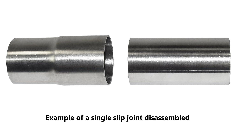 "1 3//4 Stainless Headers Mfg./ 1.75/"" American Made Stainless Slip Joint Exhaust Header Muffler Adaptor"