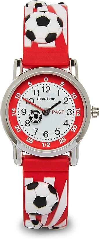 Accutime - Reloj para niños con diseño de balón de fútbol 3D, fácil ...
