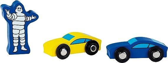 Theo Klein Aparcamiento Michelin con 3 Plantas Garaje Que Incluye 2 Coches y Mucho m/ás I Compatible con Pistas de Madera I Medidas 46 cm x 29 cm x 39 cm I Juguete para ni/ños de 3 a/ños 3404
