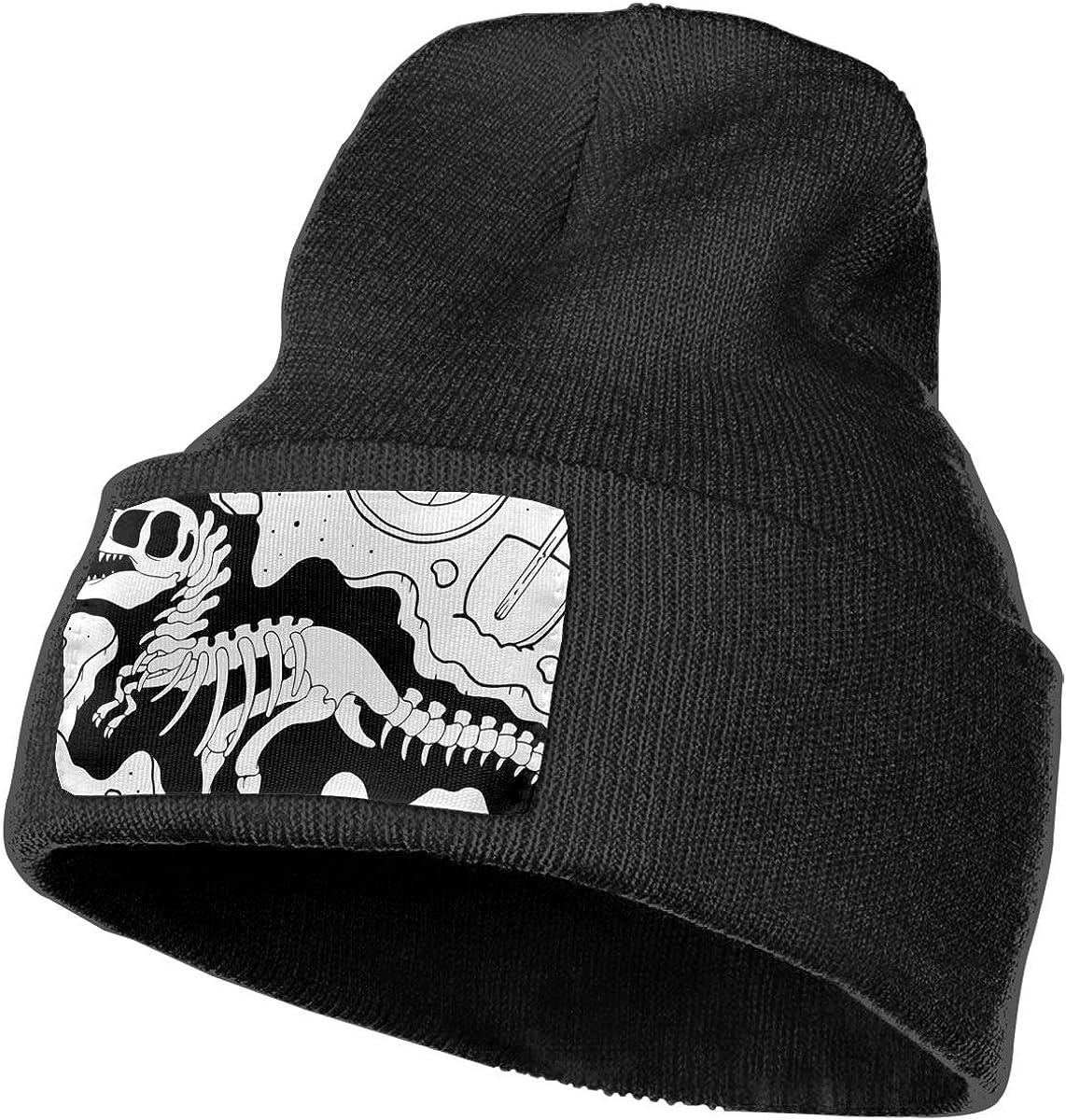 100/% Acrylic Acid Mas Beanie Hat Ruin Dinosaurs Bones Fashion Knitting Hat for Men Women