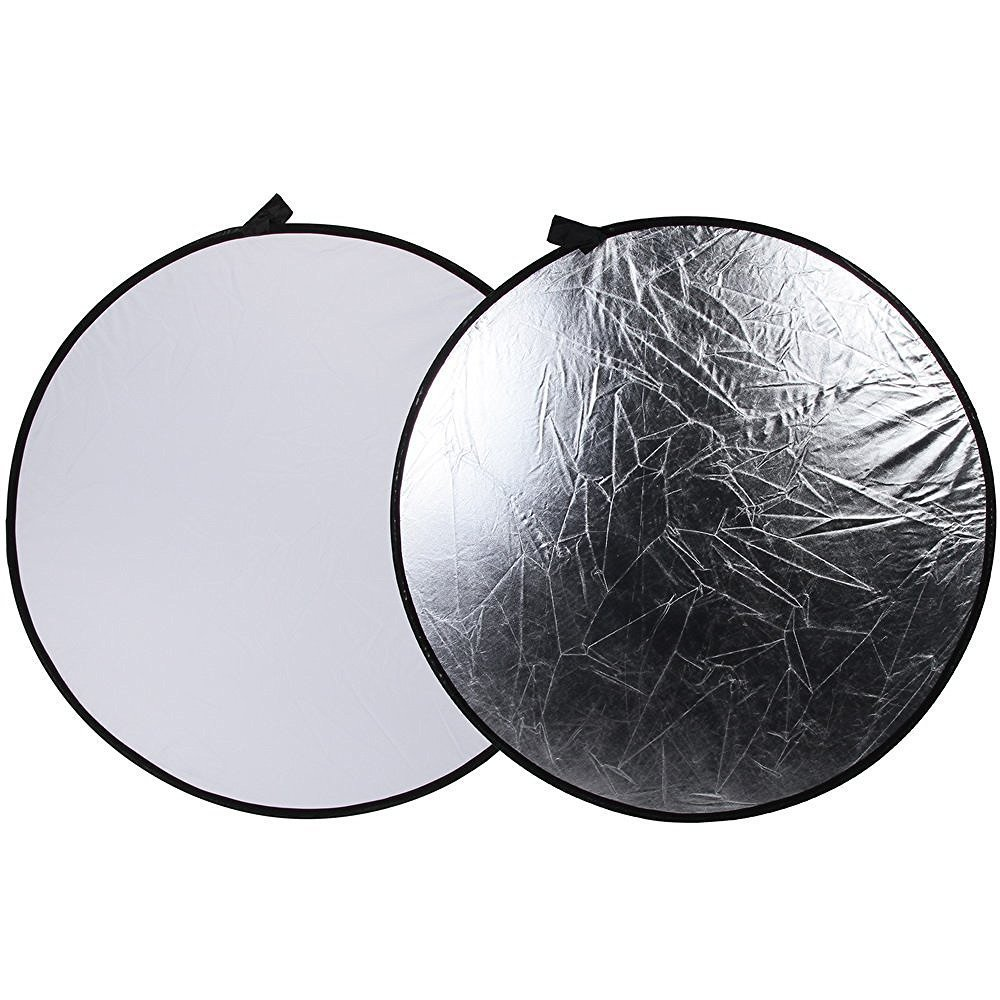 Fotga 43' 110cm 2-in-1 Light Mulit Collapsible Disc Photography Reflector Silver/white AR065