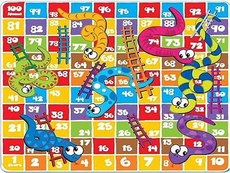 Sunta Snakes & Ladder Puzzle Eva Mat Game ( 2.59Ft x 2.59Ft x 10mm)
