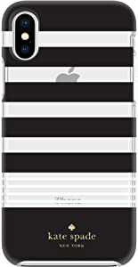 kate spade new york Black/White Multi Stripe Case for iPhone X/XS - Protective Hardshell