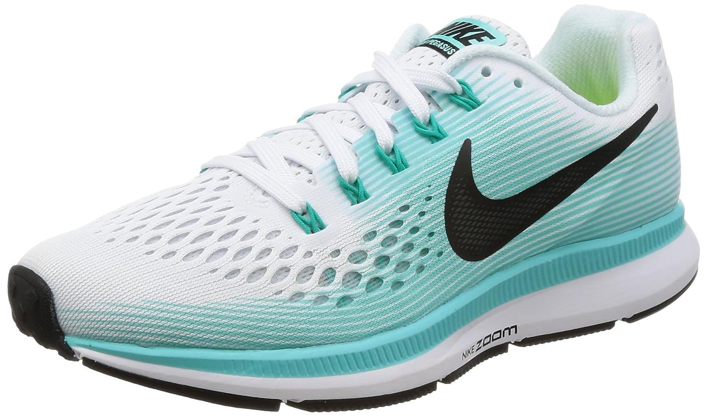 new products 7b333 88559 Amazon.com   Nike Women s Air Zoom Pegasus 34 Running Shoe White Green  (7.5)   Road Running