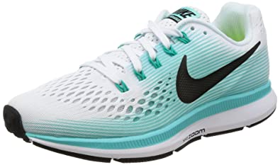 e8ae8aea6285 Image Unavailable. Image not available for. Color  Nike Womens Air Zoom  Pegasus 34 White Black Aurora Green Running Shoe 8 ...