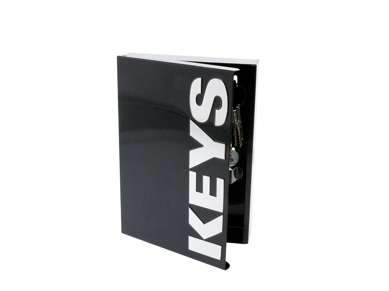 Amazon.com: Present Time Cuadro metal Key Box, Metal, negro ...