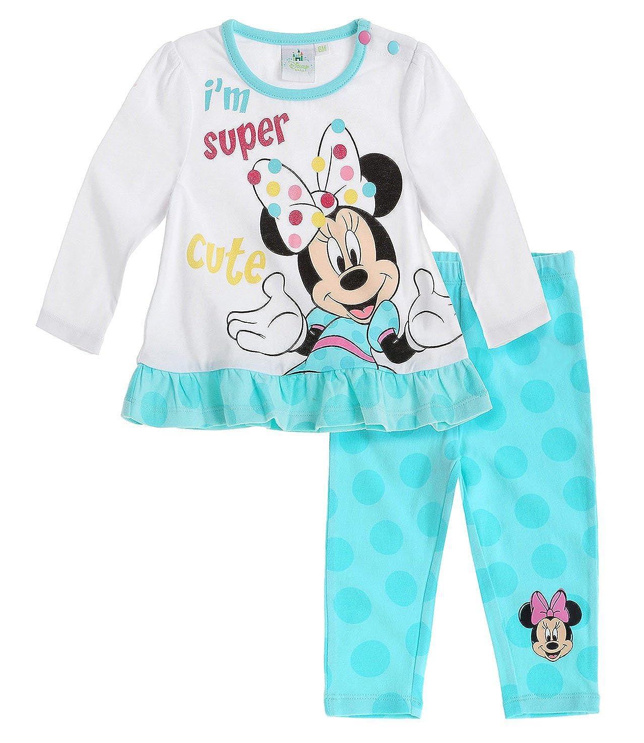 Disney Minnie Maus Baby Langarmshirt Weiß Shirt 62-92 Gr