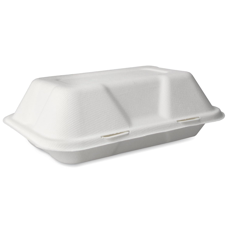 Biodegradable caña Clamshell (caja 9 x 6 pulgadas - Pack de 50 ...