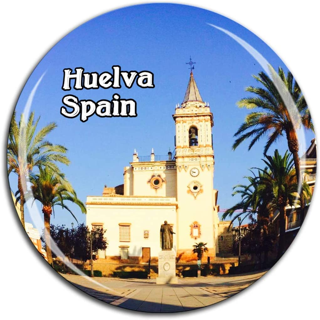 Weekino Huelva Iglesia España Imán de Nevera Cristal de Cristal 3D ...