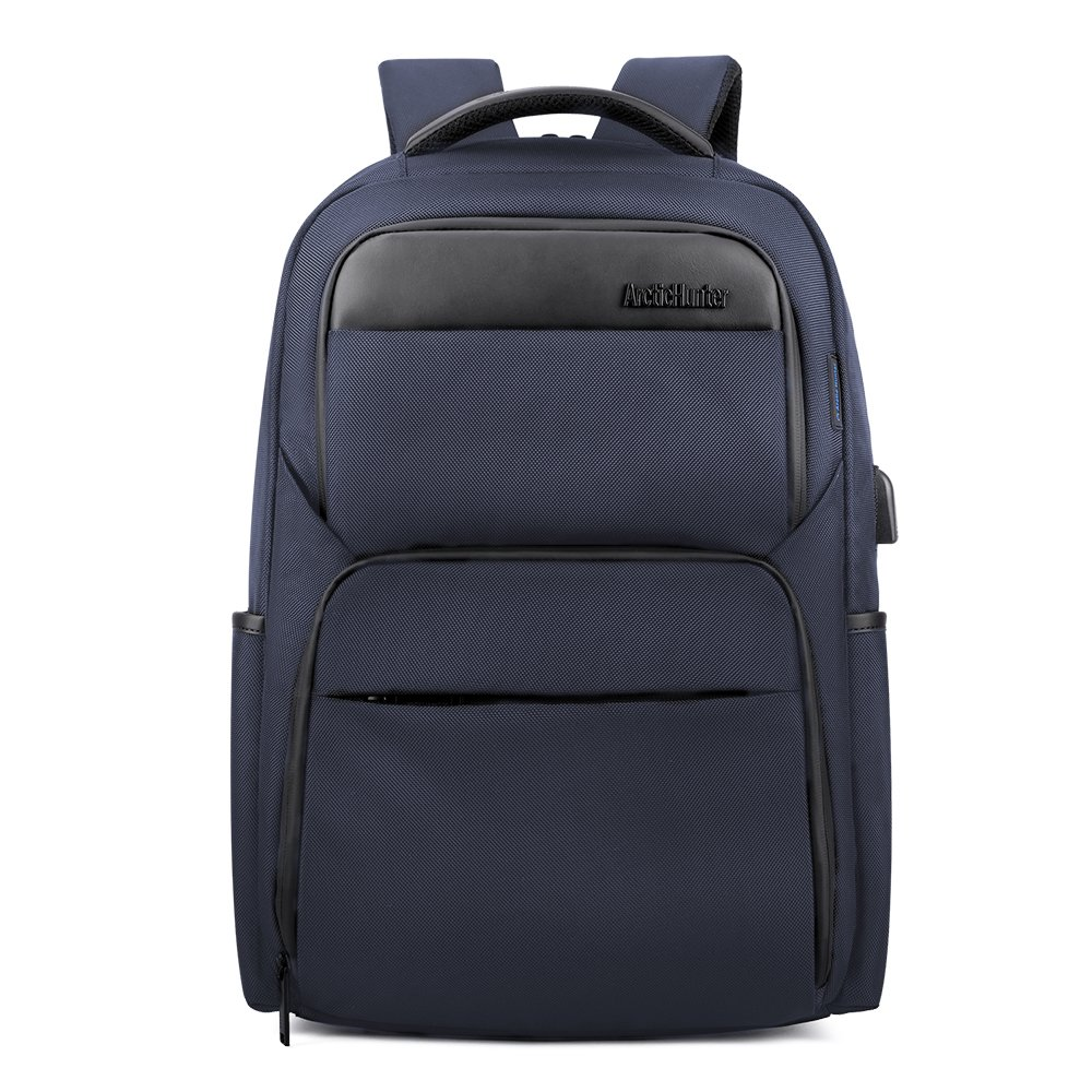 Slim Business Laptop Backpack for Men Women,15.6inch Waterproof&Anti-Theft College Backpack with USB Charging,School,Office,Travel Bag (blue1)