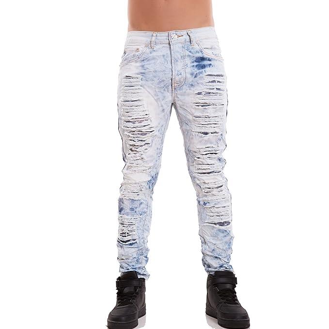 Toocool - Vaqueros Hombre Pantalones Denim Slim Strappi ...
