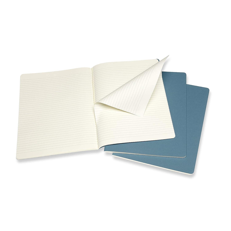 Cahier Journal Couverture en Carton et Piq/ûres de Coton Apparentes Couleur Vert DEau Taille Format de Poche 9 x 14 cm 80 Pages Moleskine Ensemble de 3 Carnets avec Pages Lign/é