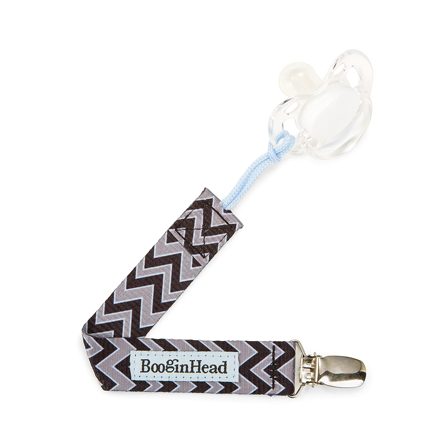 BooginHead Pacigrip Pacifier Holder, Seattle Chevron PG-SEACHEV