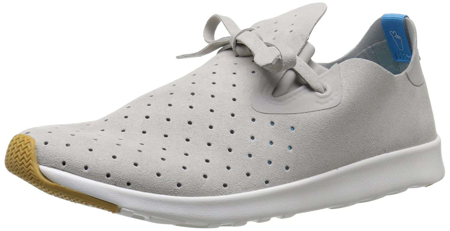 native Unisex Apollo Moc Fashion Sneaker B019ZL6QF2 11 Women's / 9 Men's|Pigeon Grey/Shell White/Natural Rubber