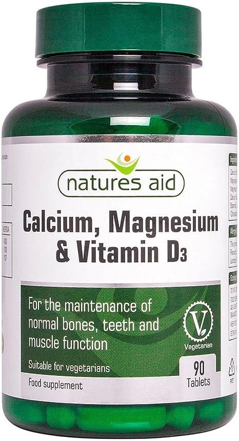 Imagen deCalcium Magnesium and Vitamin D3 Food Supplement (90 Capsules) - Natures Aid