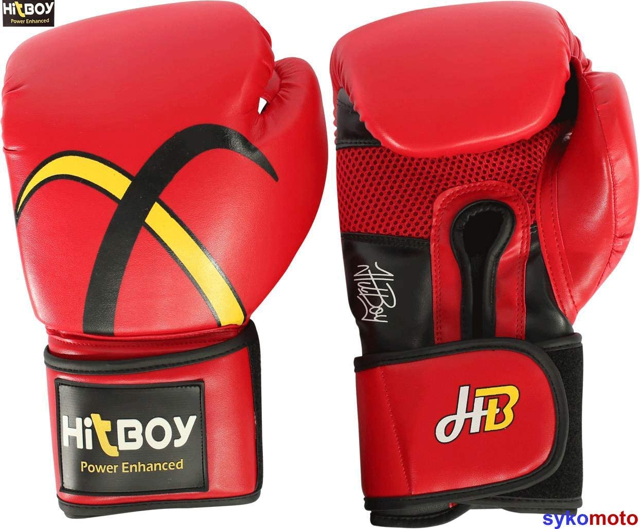 EVO Maya Hide Leather Pro GEL Boxing Gloves For MMA Punch Bag Sparring Muay Thai KickBoxing Fighting Training Glove with FREE Boxing Hand Wraps