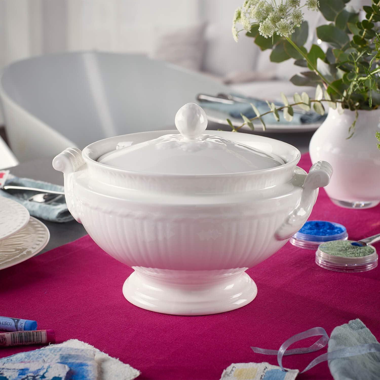 Villeroy /& Boch Cellini Soupi/ère Blanc 2 litres Porcelaine Premium