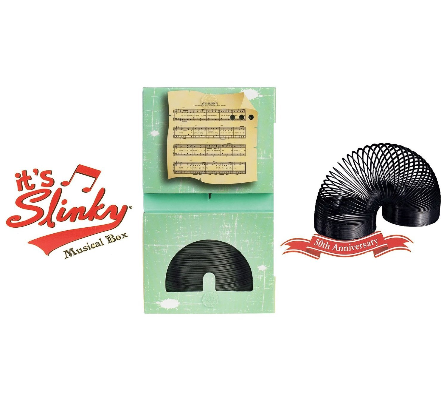 Collector's Edition Original Slinky in Singing Musical Box by Slinky Science (Image #1)
