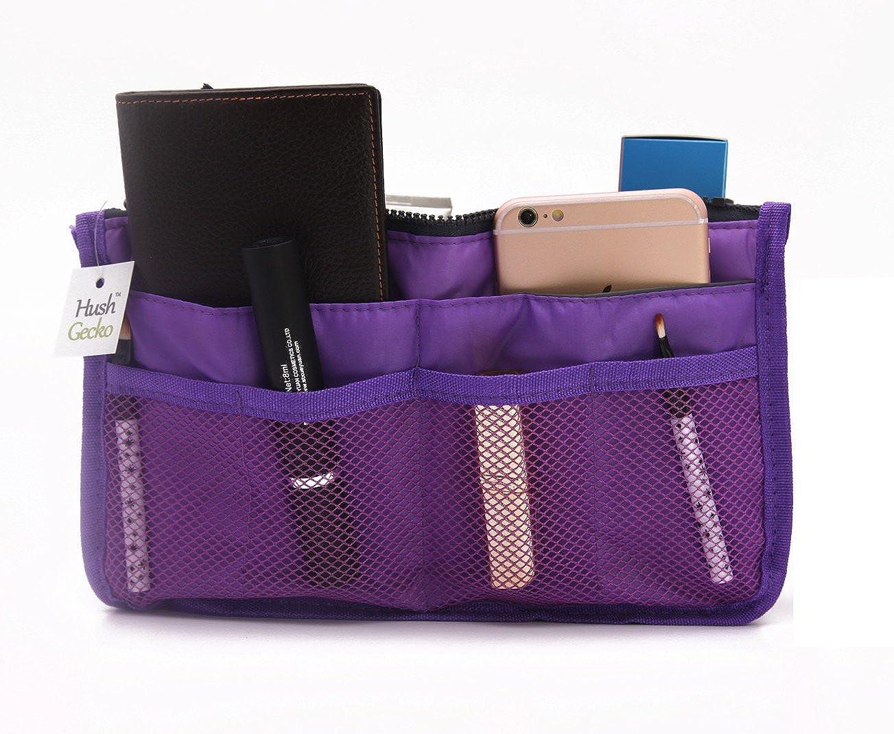 Tote Bag Insert Makeup Organizer (Purple)