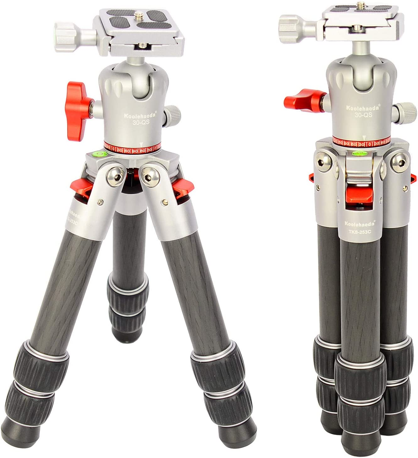 koolehaoda Portable carbon fiber mini tripod,Weighs only 1.5 pounds and Supports loads up to 22pounds(TKS-253C)