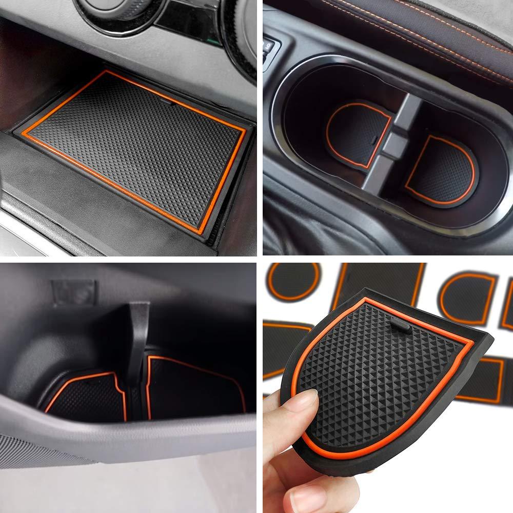 Blue Pack of 14 Auovo Anti-dust Door Mats for 2018 2019 2020 Subaru Crosstrek and Impreza Gate Door Liners Inserts Cup Console Mats Interior Accessories