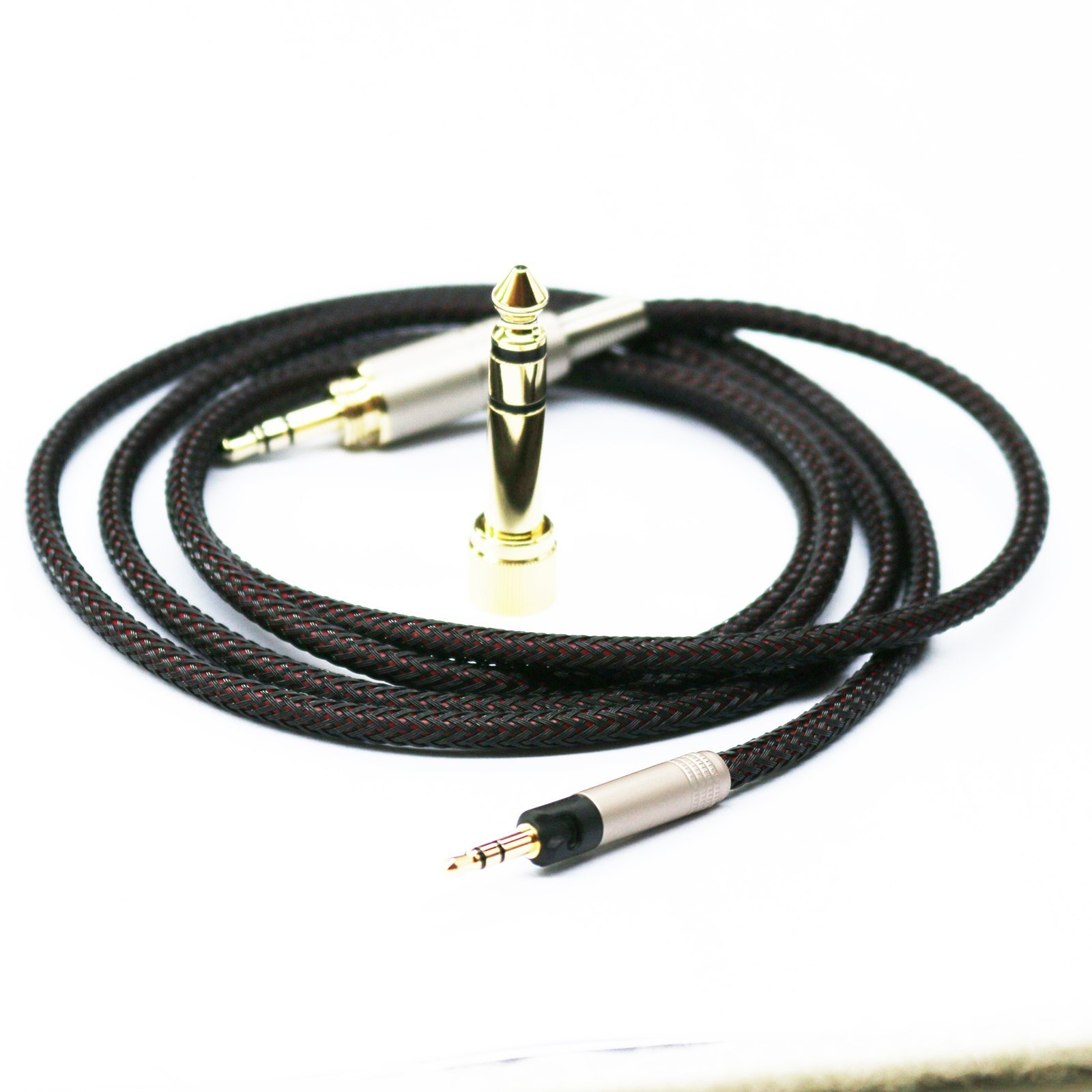 1.2m 3.9ft Replacement Audio Upgrade Cable for Sennheiser HD6 Mix HD7 HD8 DJ Headphones