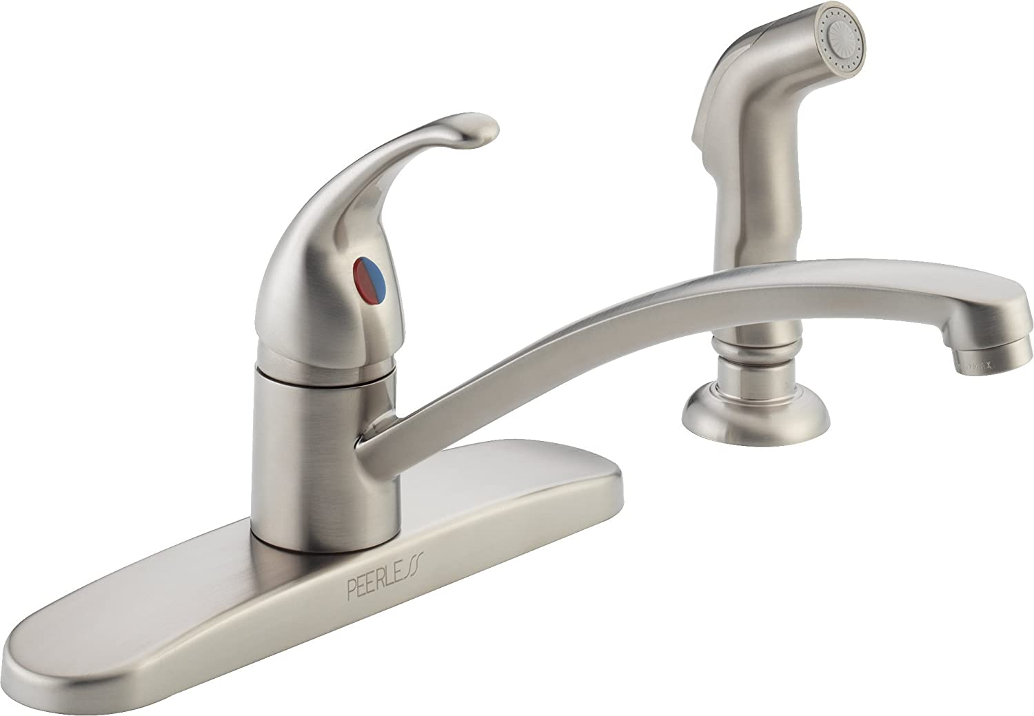Peerless P188501LF-SS Choice Single Handle Kitchen Faucet with Matching Side Spray, Stainless