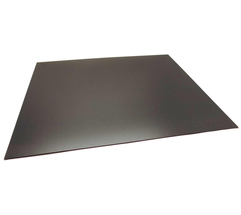 USAQ 500x400x1mm 3k Carbon Fiber Sheet Panel Plain Weave Matt Finish Large