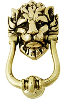 Solid Brass Lionu0027s Head Door Knocker U2013 Large Number 10 Downing Street Lion  Knocker
