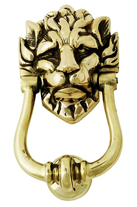 Solid Brass Lionu0027s Head Door Knocker U2013 Large Number 10 Downing Street Lion  Knocker