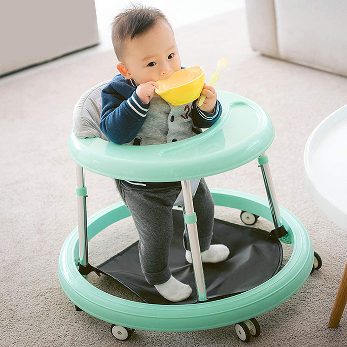 Baby Walker Car with High Stability Balance Bike Height Adjustable Multi-Function Walkers for Baby